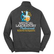 Medical Laboratory Professionals: Results You Can Depend On 2-Sided Full-Zip Jacket - Personalized