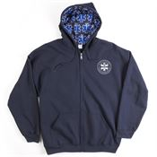 FPS® Mens 8-oz. 50/50 Full Zip Hooded Sweatshirt With Star of Life Lined Hood - Personalized