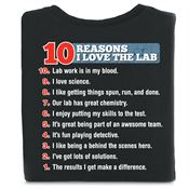 10 Reasons I Love The Lab 2-Sided T-Shirt - Personalized