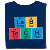 Lab Tech Periodic Table 2-Sided T-Shirt - Personalized