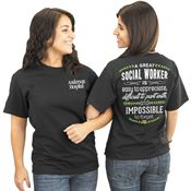 Social Worker 2-Sided T-Shirt - Personalized