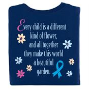 Every Child Is Different...Poem 2-Sided T-Shirt - Personalization Available