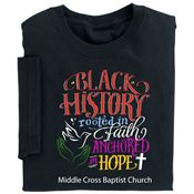 Black History: Rooted In Faith Anchored In Hope Youth T-Shirt - Personalization Available