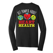Get Pumped About Heart Health 2-Sided Long Sleeve T-Shirt - Personalized