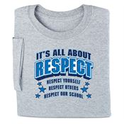 It's All About Respect Youth T-Shirt - Personalization Available
