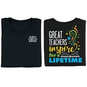 Great Teachers Inspire For A Lifetime Two-Sided Awareness T-Shirt - Personalization Available