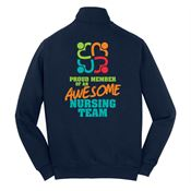 Proud Member Of An Awesome Nursing Team Full-Zip Sweatshirt Jacket - Personalization Available