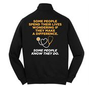 Some People Spend Their Lives Wondering If They Make A Difference Full-Zip Sweatshirt Jacket - Personalized