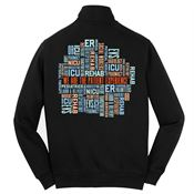 We Are The Patient Experience Sport-Tek® Full-Zip Sweatshirt Jacket - Personalized