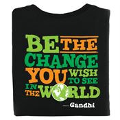 Be The Change You Wish To See In The World Two-Sided Awareness T-Shirt - Personalized
