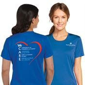 We Care Women's Sport-Tek® Competitor Short-Sleeve T-Shirt - Personalization Available