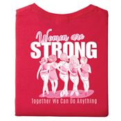 Women Are Strong, Together We Can Do Anything Two-Sided Awareness T-Shirt - Personaized