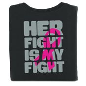 Her Fight Is My Fight Two-Sided Awareness T-Shirt - Personalization Available