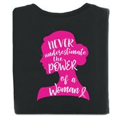 Never Underestimate The Power Of A Woman Two-Sided Awareness T-Shirt - Personalization Available