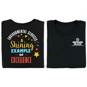 Environmental Services: A Shining Example Of Excellence Positive 2-Sided T-Shirt - Personalized