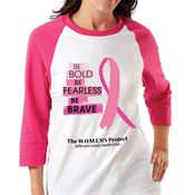 Be Bold, Be Fearless, Be Brave Gildan® Heavy Cotton 3/4 Raglan Sleeve Baseball T-Shirt - Personalization Available