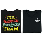 Proud Member Of An Awesome Housekeeping Team Positive 2-Sided T-Shirt - Personalized