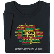 Black History Word Cloud Adult T-Shirt - Personalization Available