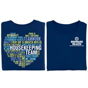 Housekeeping Team (Heart) Positive 2-Sided T-Shirt - Personalized