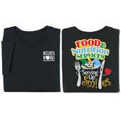Food & Nutrition Services: Serving Up Smiles 2-Sided Short Sleeve Shirt - Personalized