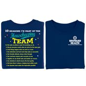 10 Reasons I'm Part Of The Housekeeping Team Positive 2-Sided T-Shirt - Personalized