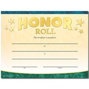 Honor Roll Gold Foil-Stamped Certificates