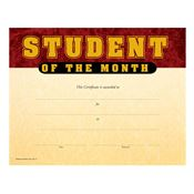Student Of The Month Gold Foil-Stamped Certificates