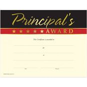 Gold Foil-Stamped Principal's Award Certificates