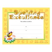 Spelling Excellence Gold Foil-Stamped Certificates