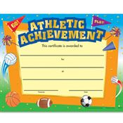 Athletic Achievement Gold Foil-Stamped Certificate