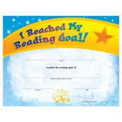 I Reached My Reading Goal! Gold Foil-Stamped Certificate