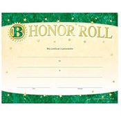 B Honor Roll Gold Foil-Stamped Certificates