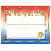 Citizenship Award Gold Foil-Stamped Certificates