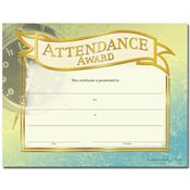 Attendance Award Gold Foil-Stamped Certificates