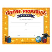 Great Progress Award Gold Foil-Stamped Certificate