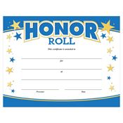 Honor Roll Gold Foil-Stamped Certificate