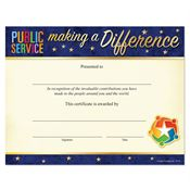 Public Service Making A Difference Foil-Stamped Recognition Certificate
