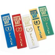 1st, 2nd, 3rd, 4th, 5th Place Field Day Award Ribbon 105-Piece Assortment Pack