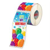 It's My Birthday Ribbon-Shaped Stickers-on-a-Roll