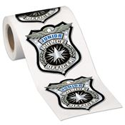 Junior Police Officer Stickers-On-A-Roll