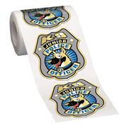 K-9 Junior Police Officer Gold-Foil Stickers-On-A-Roll