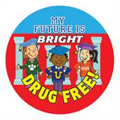 My Future Is Bright Drug Free Stickers