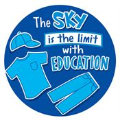 The Sky Is The Limit With Education Stickers-On-A-Roll