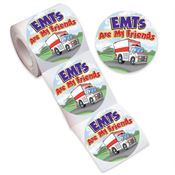 EMTs Are My Friends Stickers-On-A-Roll