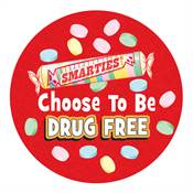 Smarties® Choose To Be Drug Free Sticker