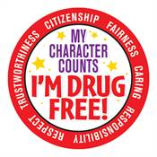 My Character Counts I'm Drug Free! Stickers
