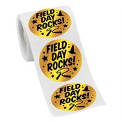 Field Day Rocks! Gold Foil Stickers-On-A-Roll