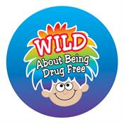 Wild About Being Drug Free Stickers