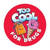 Too Cool For Drugs! Stickers