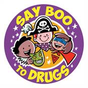 Say Boo To Drugs Stickers